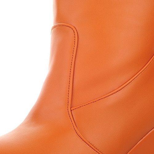 1TO9Mns01787 - Sandali con Zeppa Donna, Arancione (Orange), 35