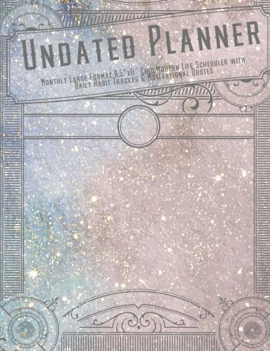 Undated Planner Monthly Large Format 8.5