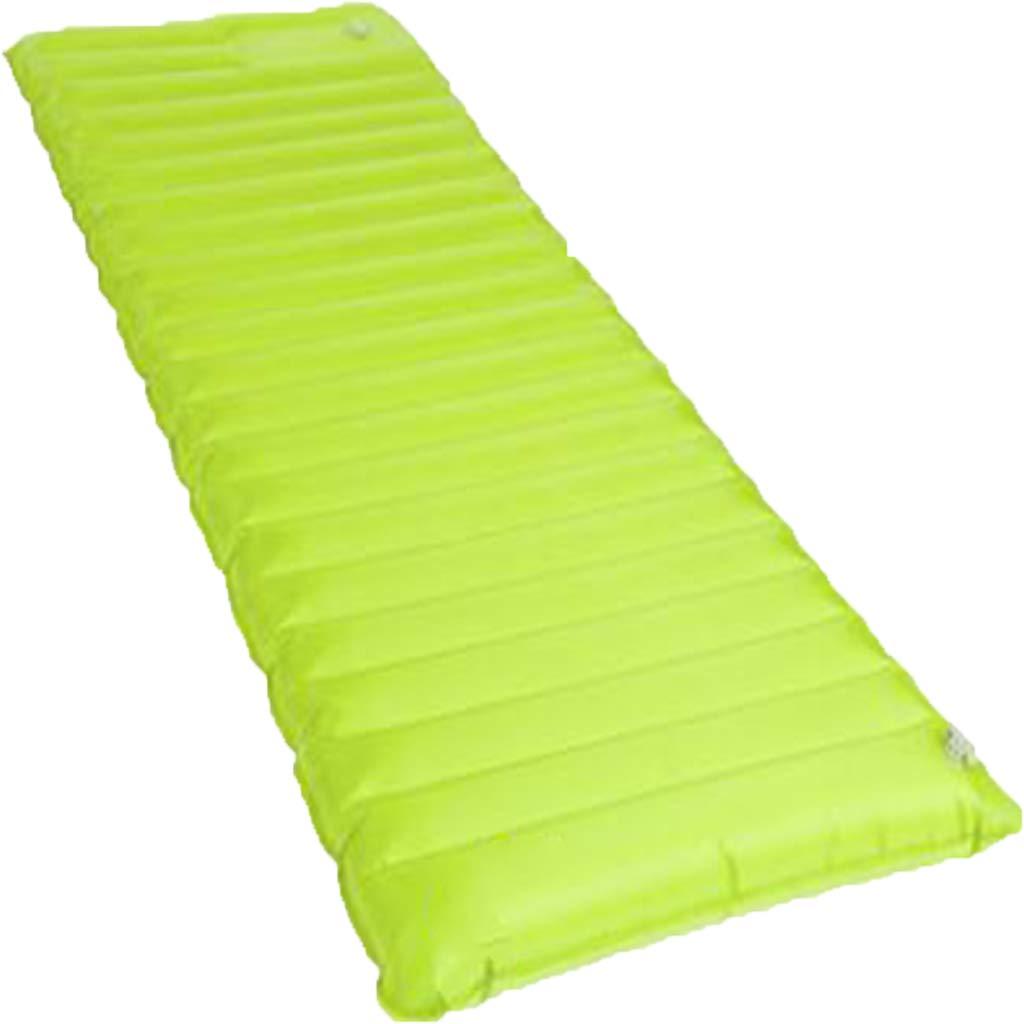 LYLLB-Air bed Outdoor Luftbett Automatische Aufblasbare Kissen Amphibisch Mit Kissen Horizontalen Streifen NäHte Design GrüN 190 X 60cm