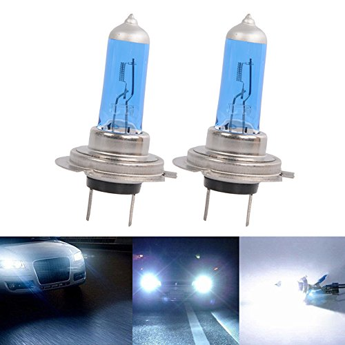 Gas Hid Headlight Light Bulbs (HOTSYSTEM 2x H7 6000K Xenon Gas Halogen Headlight White Light Lamp Bulbs 55W)