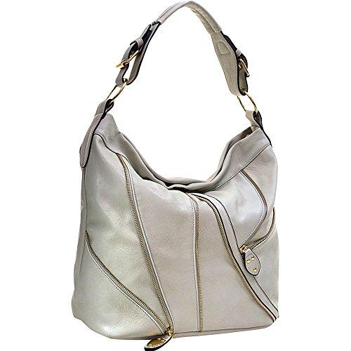 dasein-zipper-front-hobo-light-grey
