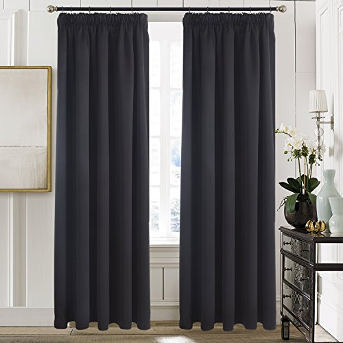 Aquazolax Bedroom Blackout Curtains Window Treatment