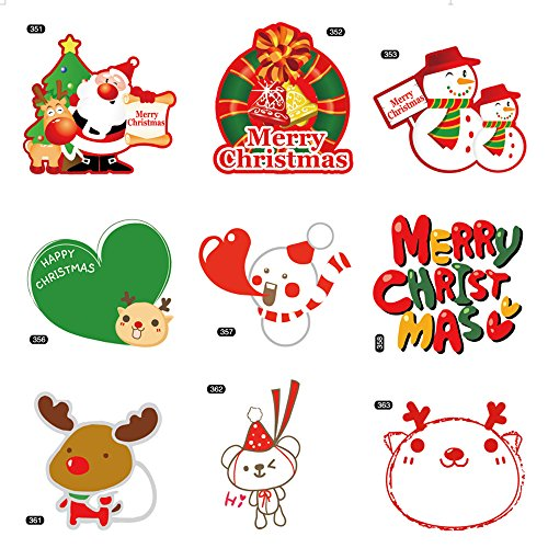 Christmas Sticker Ornaments ,Reward Stickers for kids,27 Sheets Different design to Decorate crafts and cards,great for your home furniture or car,Christmas Stickers Classroom,2.4in-4in (Holiday Bicycle Ornament)