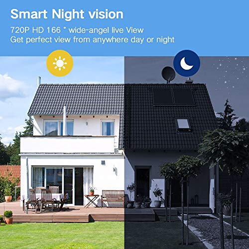 Video Wireless Doorbell Camera WiFi Doorbell GJT 720P HD Home Security  Camera with Chime 166° Wide Angle Real-Time Two-Way Audio Night Vision PIR