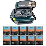 Polaroid 600 Round Instant Film Camera (Green) with Color Instant Film (10 pack)