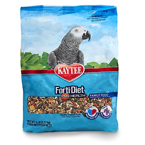 Kaytee Forti Diet Pro Health Bird Food for Parrots, 5-Pound