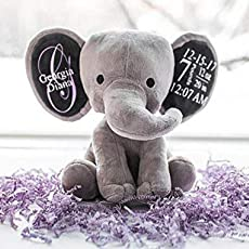Amazon Com Personalized Birth Stat Elephant Handmade