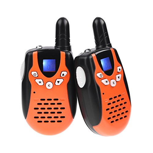 Swiftion Rechargeable Kids Walkie Talkies 22 Channel 0.5W FRS/GMRS 2 Way Radios with Charger and Rechargeable Batteries (Orange, Pack of 2)