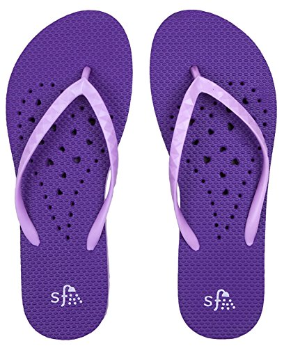Showaflops Lavender Big Antimicrobial Violet Sandals amp; Water Shower Foam Girls' rBrqzwO
