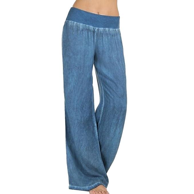 Hibote Pantalones Mujer Pantalones Bootcut cómodos Pantalones Acampanados  de Cintura Alta Estampado de Flores Pantalones Casuales Desgaste Festivo de  la ... ed1f0b7d3989
