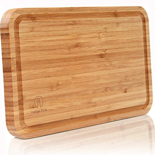 Bamboo Cutting Board with Juice Groove - Convenient Size 8