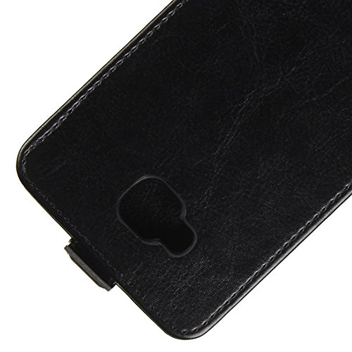 Para BQ Aquaris U2 / U2 Lite Caso compacto de piel PU, arriba-abajo piel abierta PU Funda de piel con ranura para tarjeta y función de protección completa con cierre magnético Caja a prueba de golpes  Negro