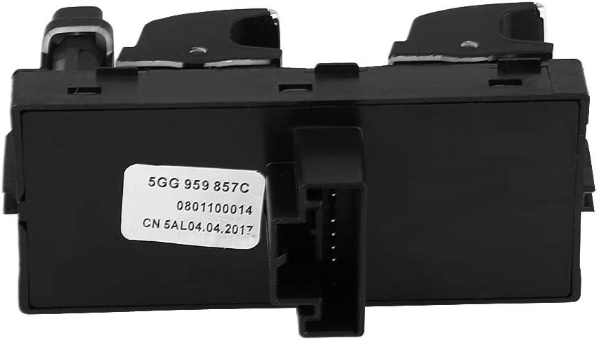 Power Window Switch,Electric Power Window Master Control Switch for GTI 7 B8 5GG 959 857 A 5G0 959 857C 5G0959857C