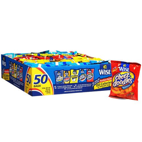 Wise Grab and Snack 50 -Variety Pack, 37.5 Oz ()