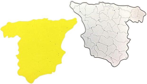 P12cheng Troqueles de corte de metal, diseño de mapa de España ...