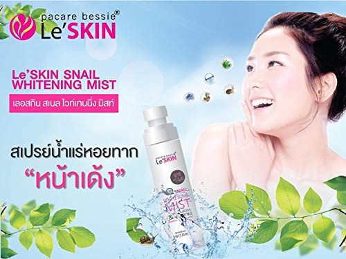 SNAIL WHITENING MIST snail slime extract mineral water spray (helps cosmetics stay on long lasting throughout the day) 100 ml.