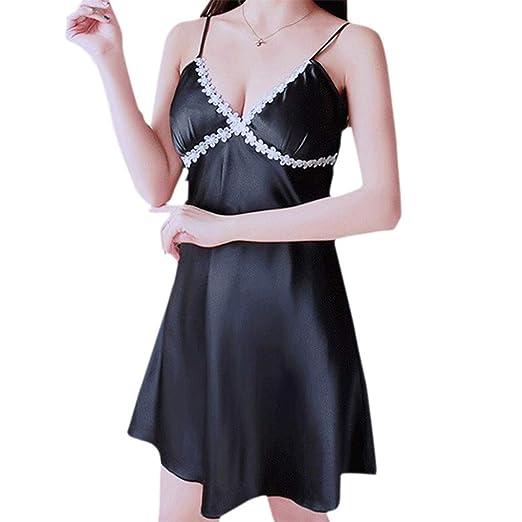 c8ac64531b8 Amazon.com: WANQUIY Women Baby Dolls Chemises,Satin Sleepwear Camisoles  Lingerie Nightdress Sleepskirt Underwear Pajamas: Clothing