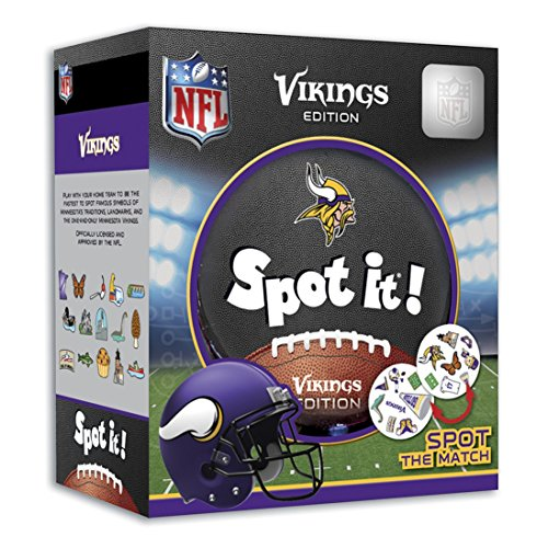 (MasterPieces NFL Minnesota Vikings Spot It! Card Game)