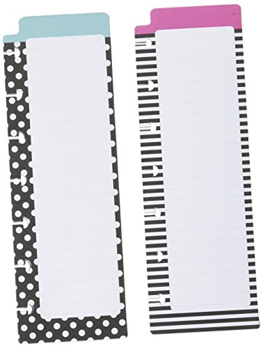 me & my BIG ideas PADL-05 Create 365 The Happy Planner Notepads, Black and White