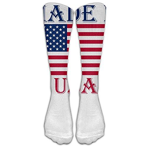 ZHONGJIAN Unisex Knee High Long Socks Made In USA States Flag Boot High - Usa Sales July In