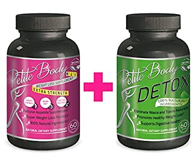 Natural Appetite Suppressant & Fat Burner BUNDLE with Weight Loss Colon Detox Pills - Natural Weight Loss Supplements For Women That Work, 100% Natural Weight Loss Pills