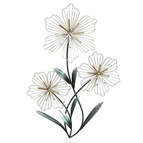 Stratton Home Decor SHD0198 Tri-Flower Wall Decor
