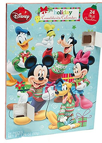 Disney Mickey Mouse Advent Holiday Countdown Calendar with 24 Chocolates (Mickey Mouse and Friends)