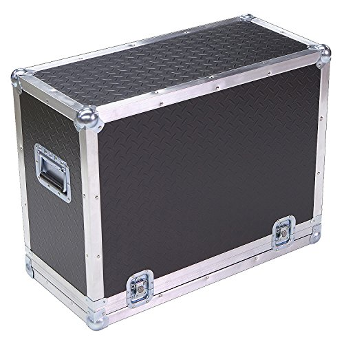 Amplifier 1/4 Ply ATA Light Duty Case with Diamond Plate Laminate Fits Fender 65 Deluxe Reverb (Deluxe Cover Amp 65 Reverb)