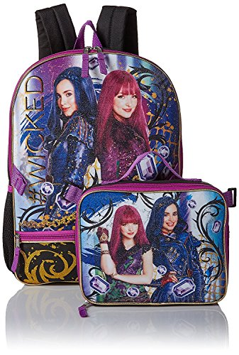 962fa13902e Disney Descendants 2 Girls Bookbag School Backpack Lunch Box Bag SET. by ast  toys