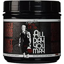 Rich Piana 5% Nutrition All Day You May BCAA & Joint Recovery Drink (Fruit Punch) 17.2oz (465 Grams) 30 Servings