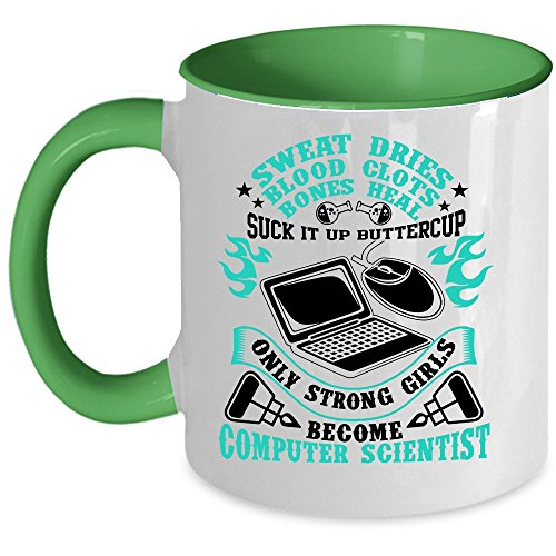 I'm A Computer Scientist Coffee Mug, Become ComputerScientist Accent Mug (Accent Mug - Green)
