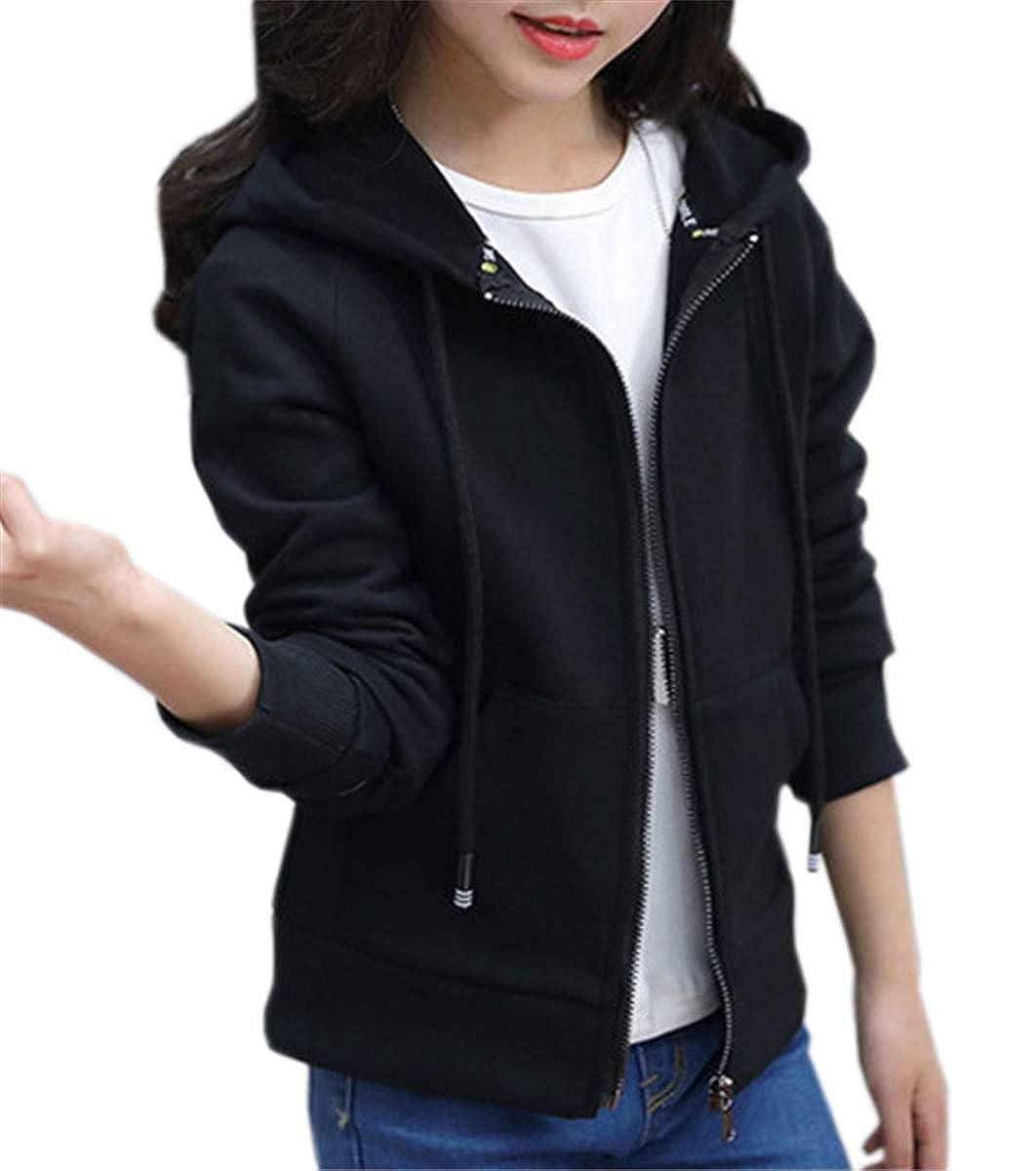 QZH.DUAO Girls Full-Zip Hoodie Sweatshirt Jacket