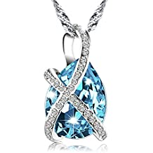 Pealrich Teardrop Fashion Jewelry Pendant Love Necklace Made with SWAROVSKI Crystal Elements ,Gifts for Women