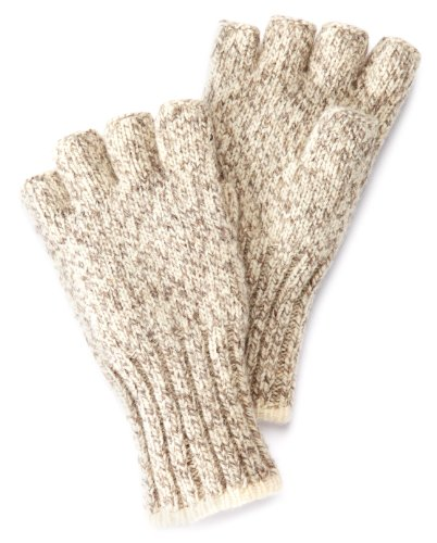 FoxRiver Men's Ragg Fingerless Glove, Brown Tweed,