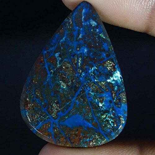 Radheygovind gems 52.55Cts.100% Natural Blue Azurite Pear Cab Fine Quality Loose Gemstones by Radheygovind gems (Image #1)