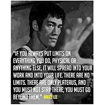 Amazoncom Get Motivated Bruce Lee Quotes Poster 12 X 18
