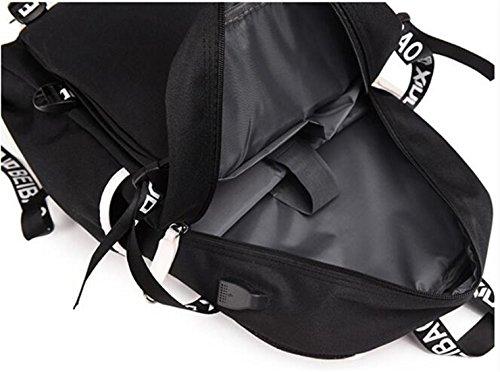 AUGYUESS My Hero Academia Anime Cosplay Backpack School Bag Daypack Bookbag Laptop Bag (6) by AUGYUESS (Image #5)