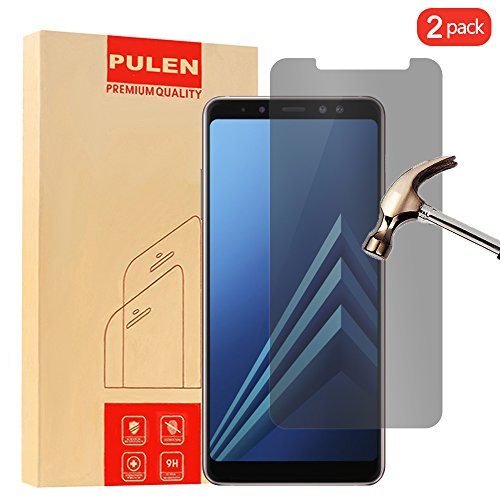 [2 PACK] Samsung Galaxy A8 Plus 2018 Screen Protector, PULEN [Self-adhesive] [Privacy Protection] [Scratch Resistance][Anti-fingerprint] [No-Bubble] Clear Privacy Protector Film