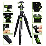 Koolehaoda Portable SLR Camera Tripod Monopod & Ball Head Portable Compact Travel