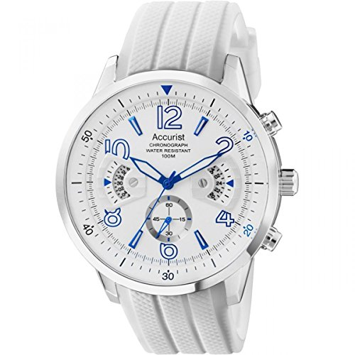 Accurist MS920WW Mens All White Chronograph Acctiv Sports - Uk Watchshop