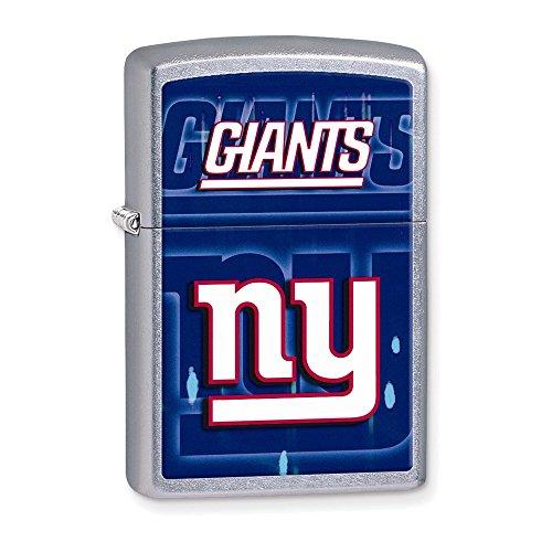New York Giants Zippo Lighter - Zippo NFL Giants Lighter, Silver, 5 1/2 x 3 1/2cm