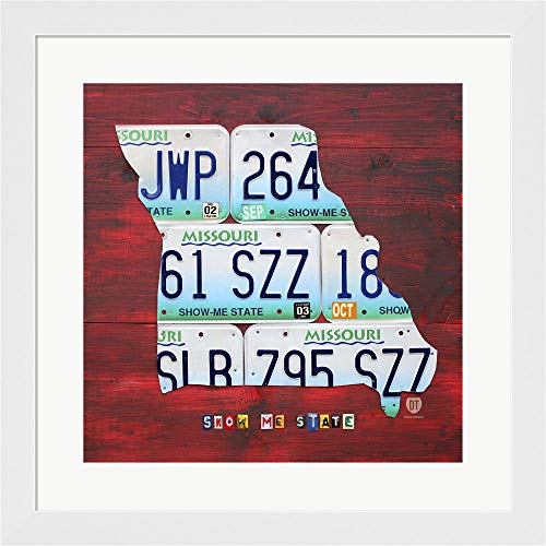 - Missouri by Design Turnpike Fine Art Print with Wood Box Frame and Glass Cover, 20 x 20 inches