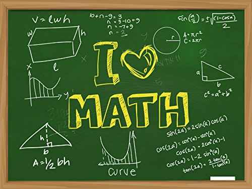 Math Formula Poster Charts for High School hi gloss Educational Chart Wall Art Math