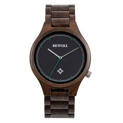 themesmith Simple Men's Wooden Watch Cross-Border E-Commerce Wooden Watch: Garden & Outdoor