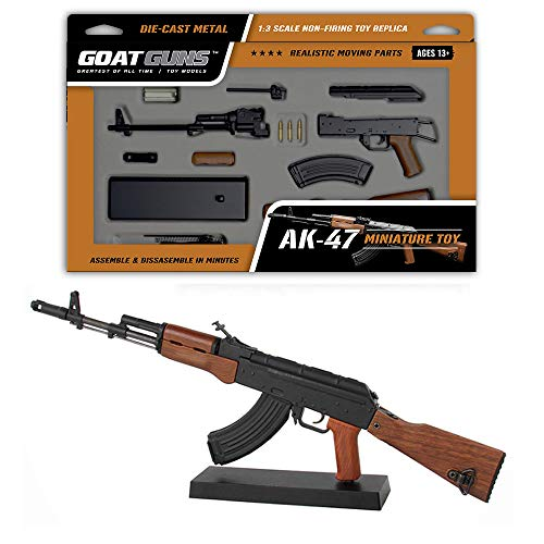 GOAT GUNS Toy AK47 Model | Black Die Cast Metal | DIY Build Kit (Gun Model)