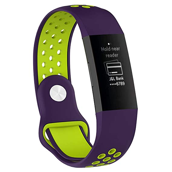 Amazon com: Small Fitbit Charge 3 Bands, Soft TPU Silicone