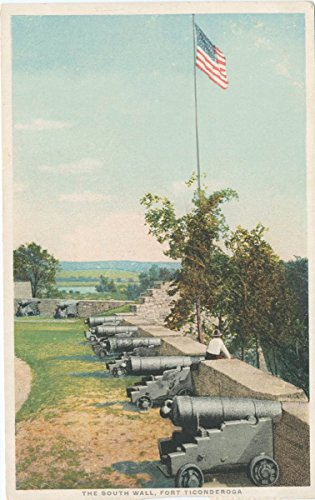 1898 Fine Art - Vintage Postcard Print | The South Wall, Fort Ticonderoga, 1898 | Historical Antique Fine Art Reproduction
