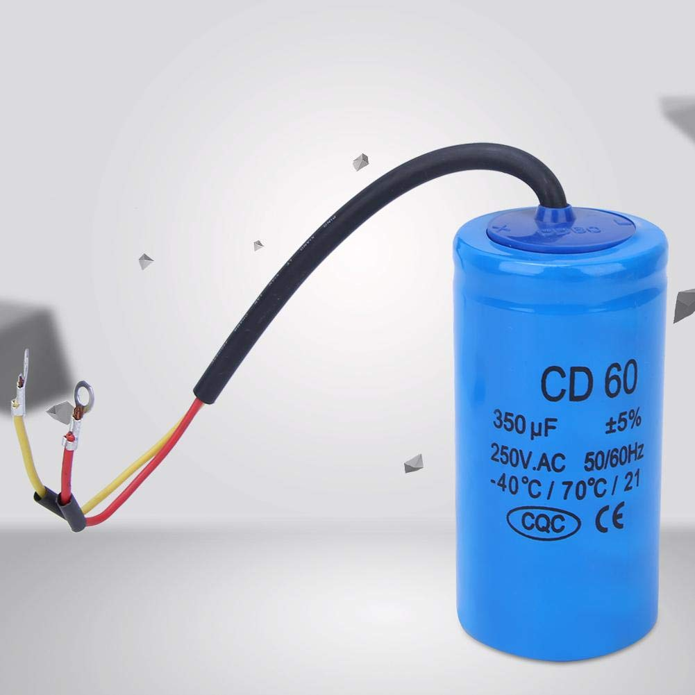 CD60 Condensador de arranque, 350uf 250V AC Motor Running Start ...