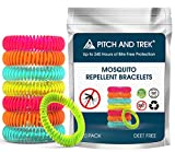 Pitch and Trek - Mosquito Repellent Bracelet 10 PACK - Fits All -...