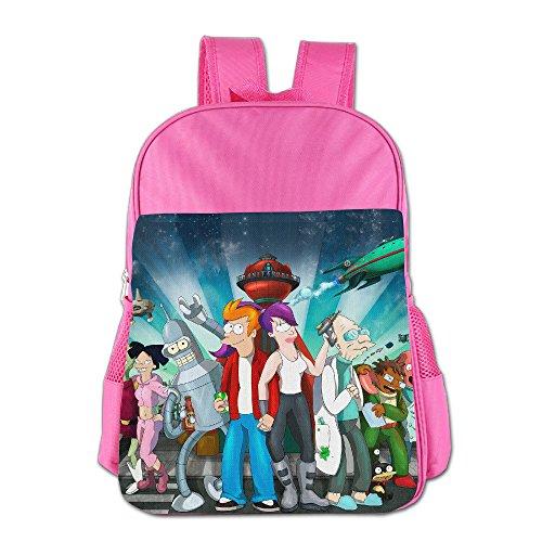 Kids Futurama School Backpack Cute Boys Girls School Bags Pink